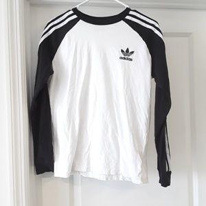 Adidas 3 Stripe Long Sleeve